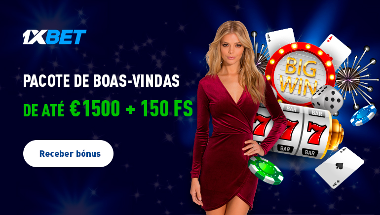 1xBet Casino a Conceder 1500€ em Pacotes de Boas-Vindas
