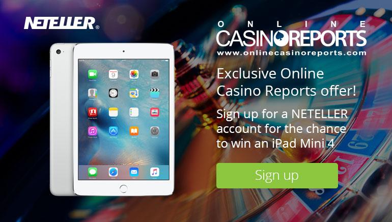 Ganhe um iPad Mini4 com a NETELLER e a Online Casino Reports