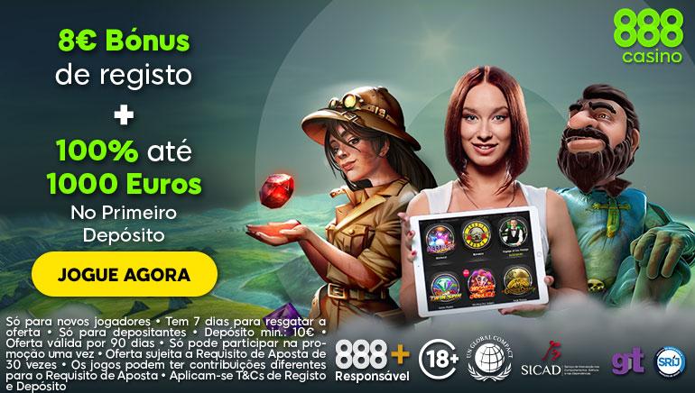 Jogadores do 888casino de Portugal Têm Acesso à Oferta Gigante
