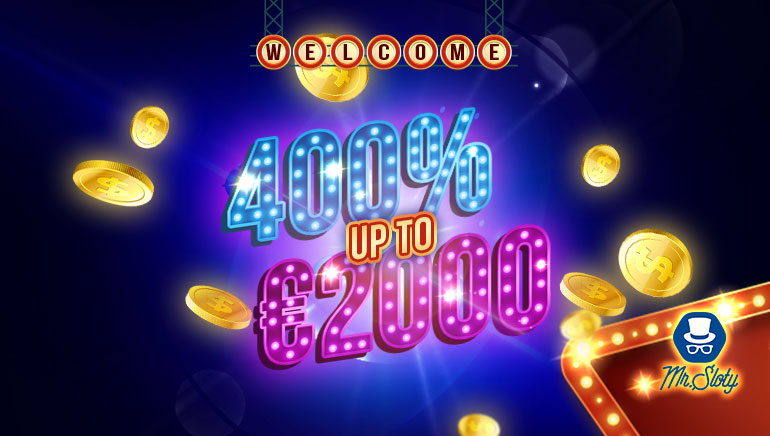 welcome 400% up to €2000