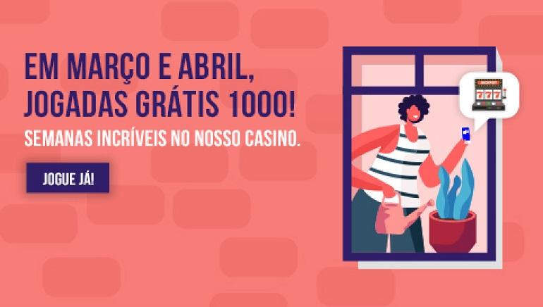 Entra em Ação com 1.000 Jogadas Grátis no NossaAposta Casino