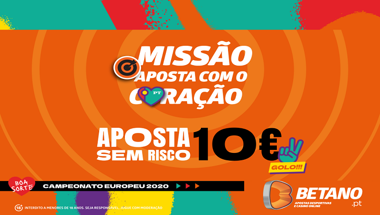Jogadores Portugueses que Escolherem Betano para o Euro 2020 Recebem Bónus de Boas-Vindas
