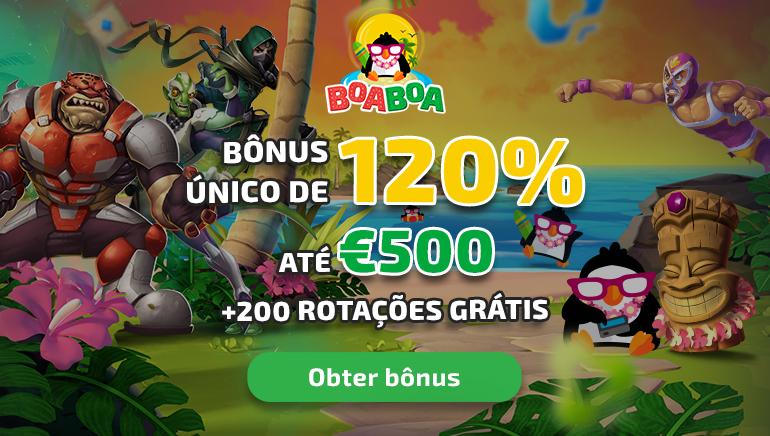 Bónus de Boas-Vindas de  500 € e 200 Giradas Grátis À Espera no BoaBoa Casino