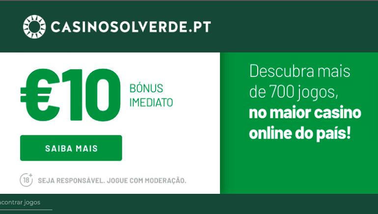 Joga Com 10 € Grátis & Bónus de Até 2.000 € no Casino Solverde
